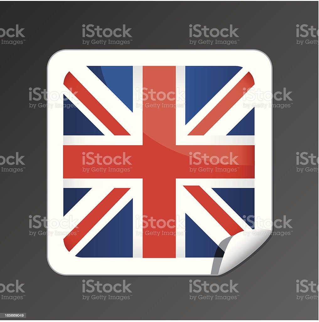 Great Britain flag button royalty-free stock vector art