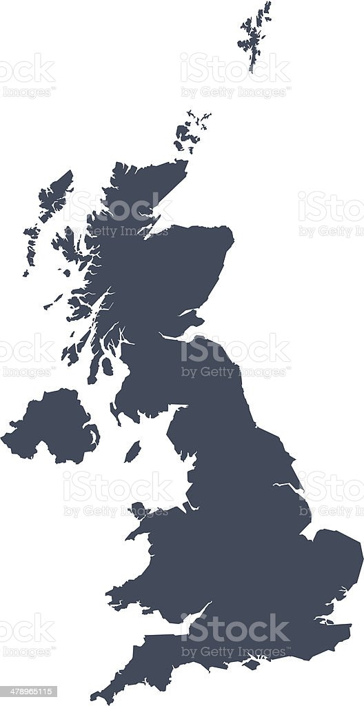 Great Britain map vector art illustration