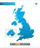Great Britain Vector Map