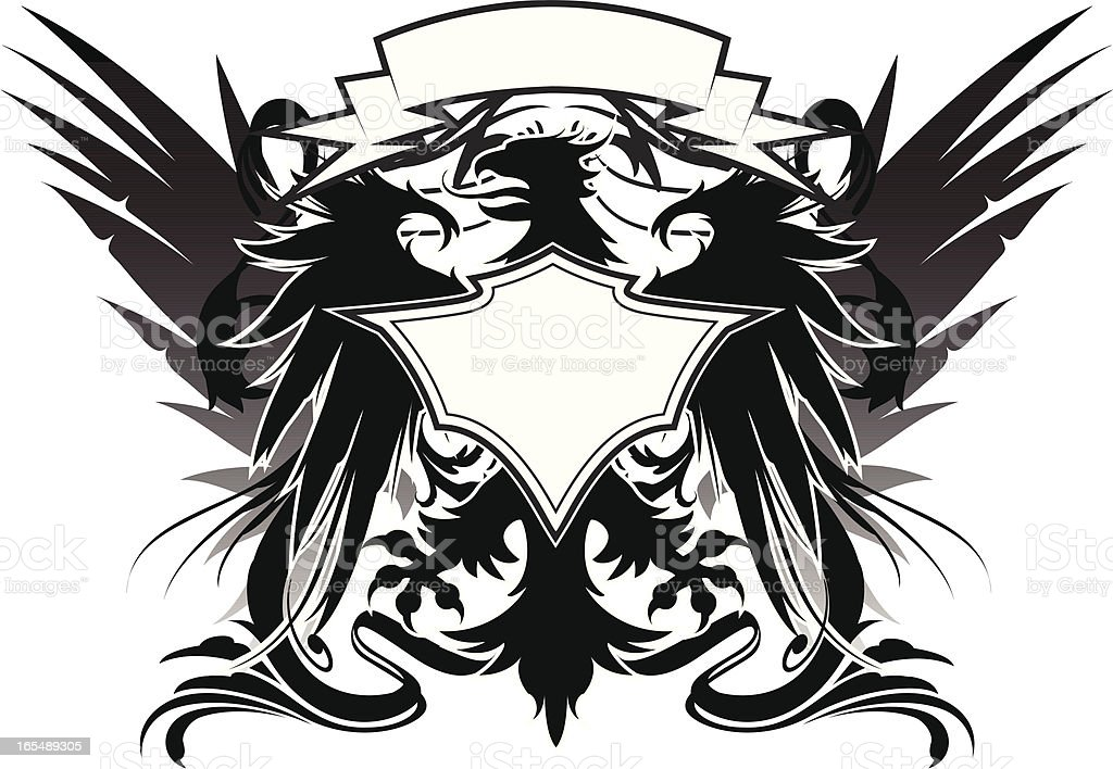great griffin crest royalty-free stock vector art