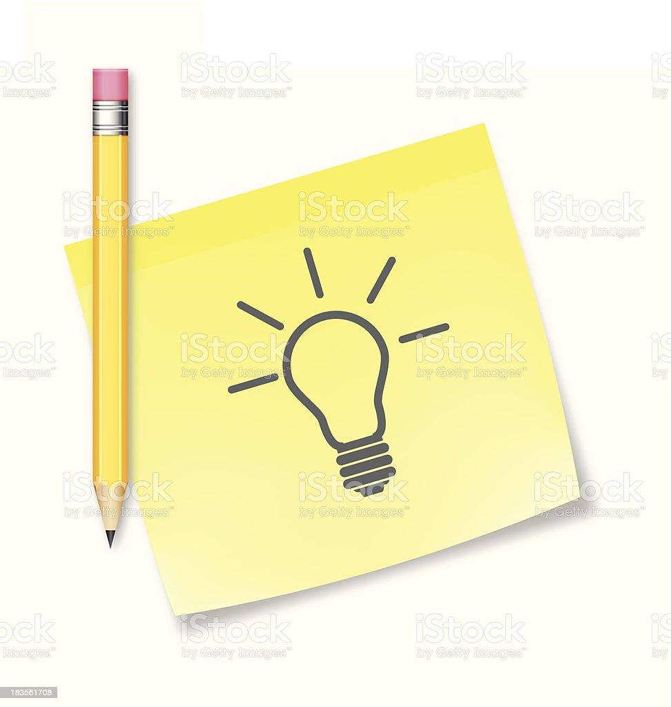 Great idea concept - VECTOR royalty-free stock vector art