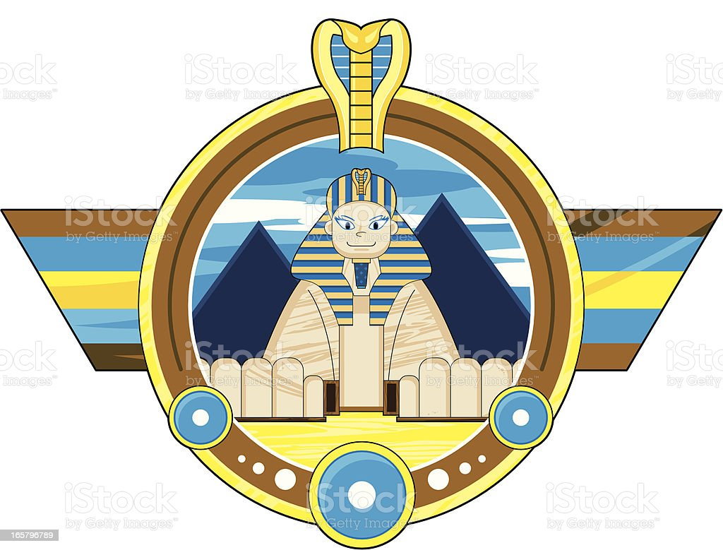 Great Sphinx Badge royalty-free stock vector art