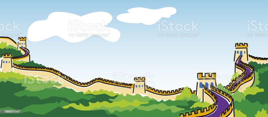 Great Wall of China royalty-free stock vector art