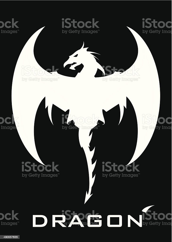 Great White Dragon royalty-free stock vector art