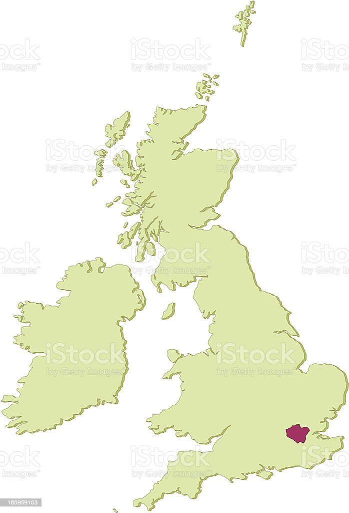 UK Greater London map royalty-free stock vector art