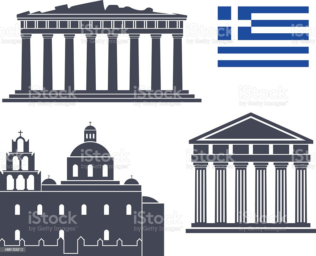 Greece vector art illustration