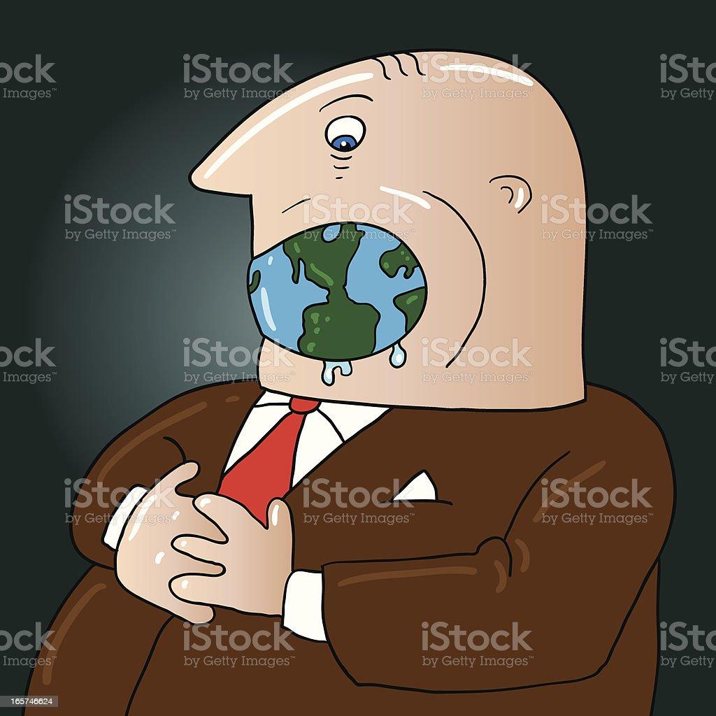 greedy globalization royalty-free stock vector art