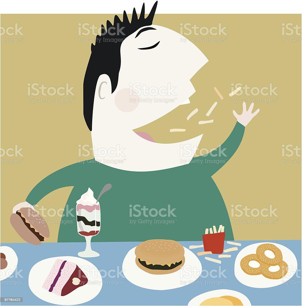 Greedy Guy vector art illustration