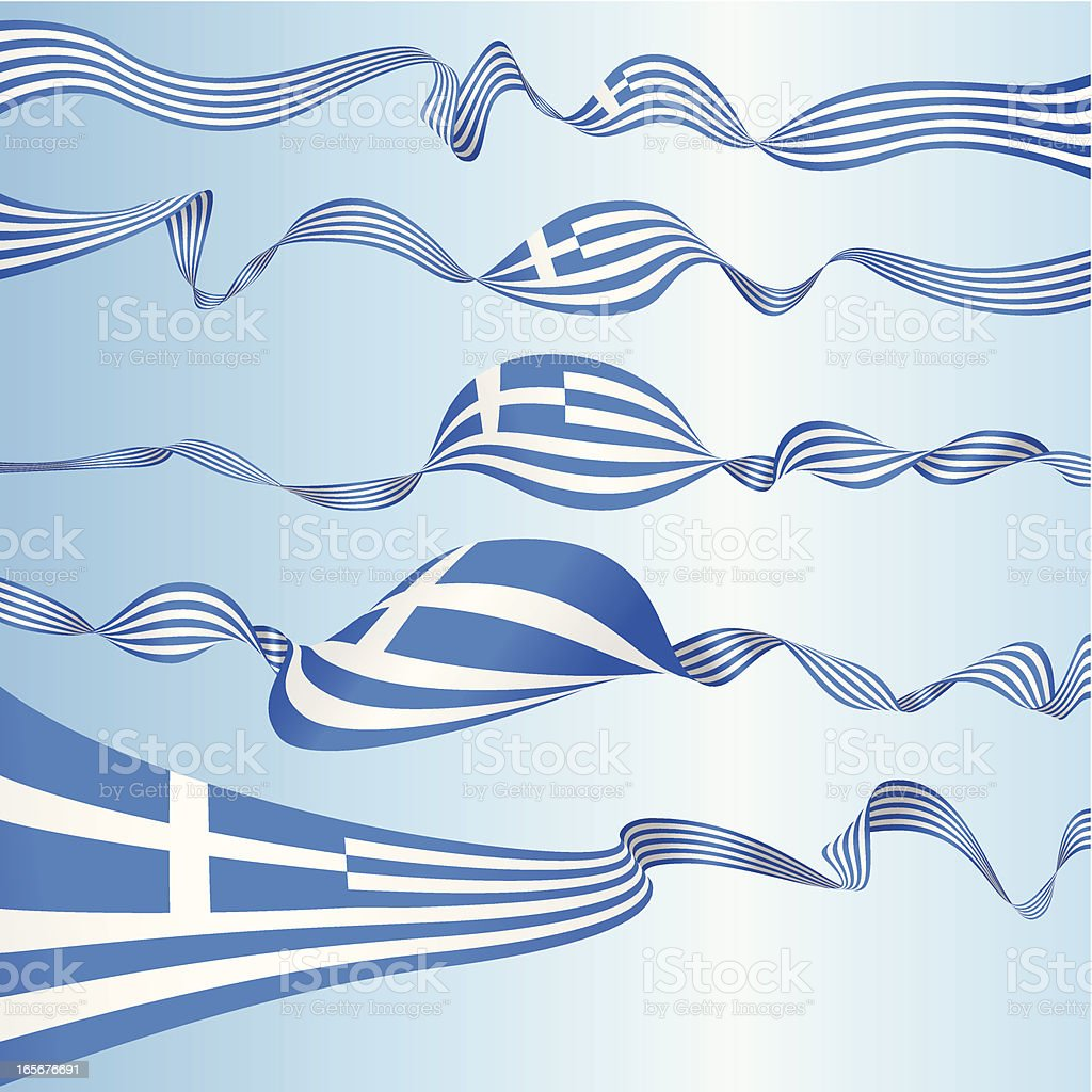 Greek Banners royalty-free stock vector art
