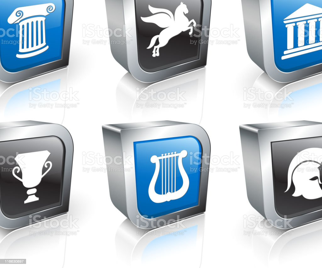 Greek culture royalty free vector icon set royalty-free stock vector art