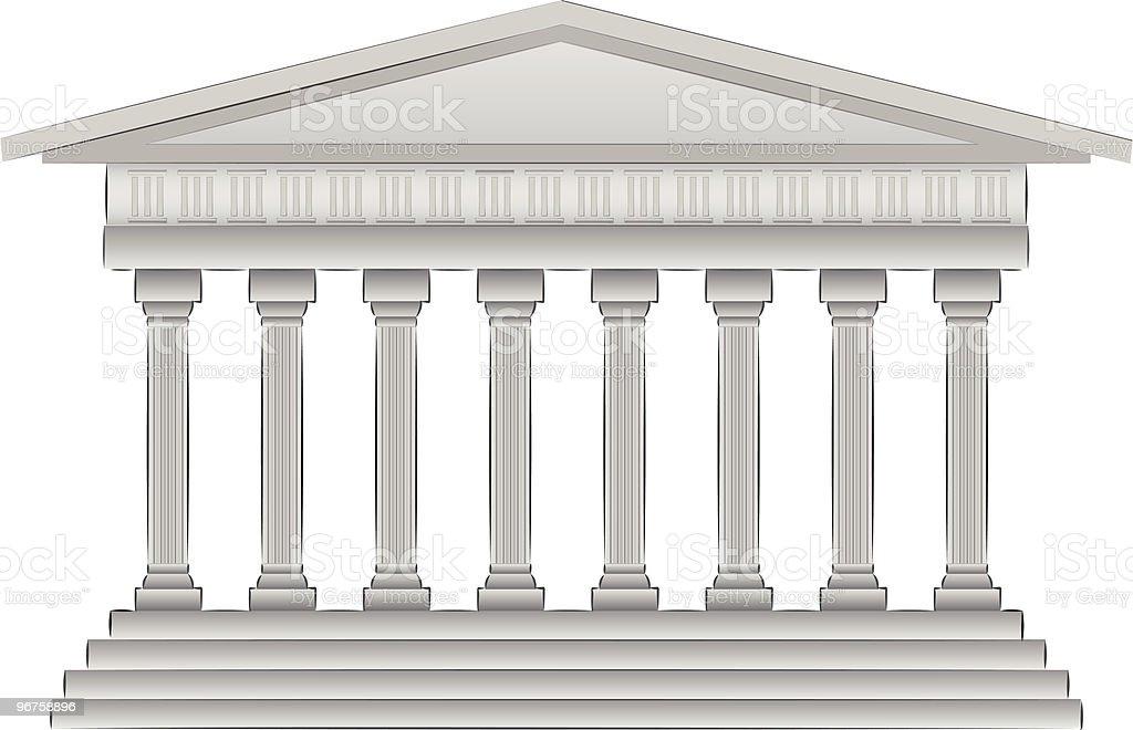 greek dome illustration vector art illustration