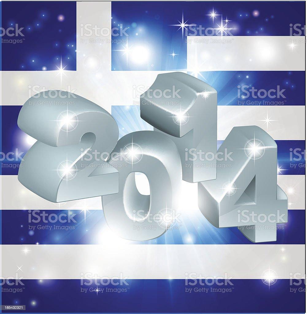 Greek flag 2014 royalty-free stock vector art