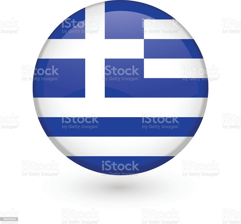 Greek flag vector button royalty-free stock vector art