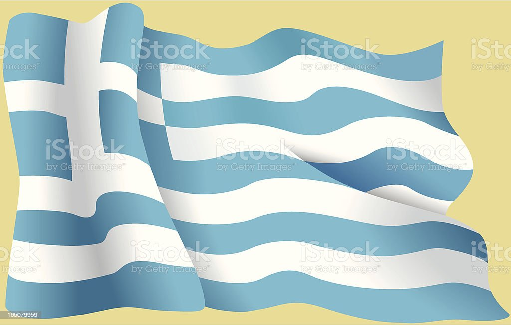 Greek flag royalty-free stock vector art