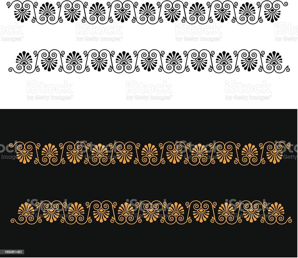 Greek Floral Border royalty-free stock vector art