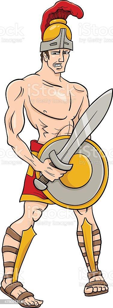 greek god ares cartoon illustration vector art illustration
