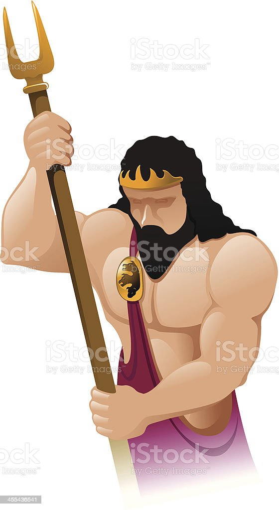 Greek gods - Hades royalty-free stock vector art