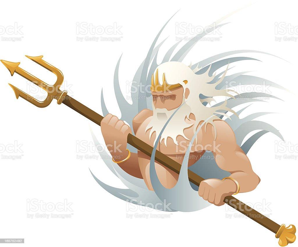 Greek gods - Poseidon vector art illustration