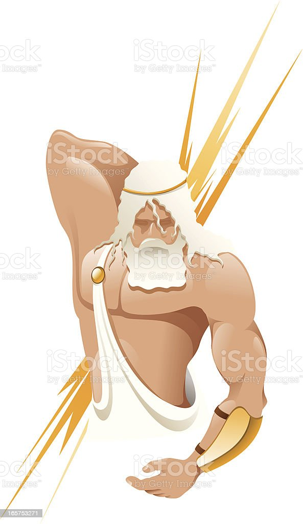 Greek gods - Zeus vector art illustration