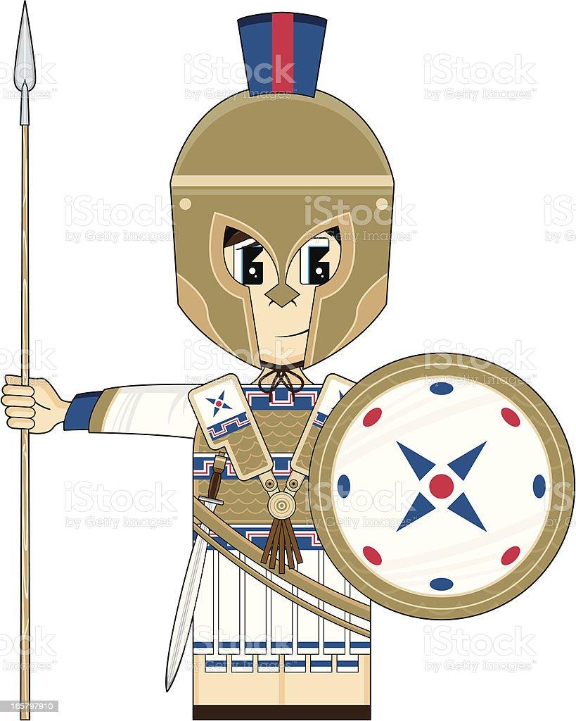 Greek Hoplite Soldier vector art illustration