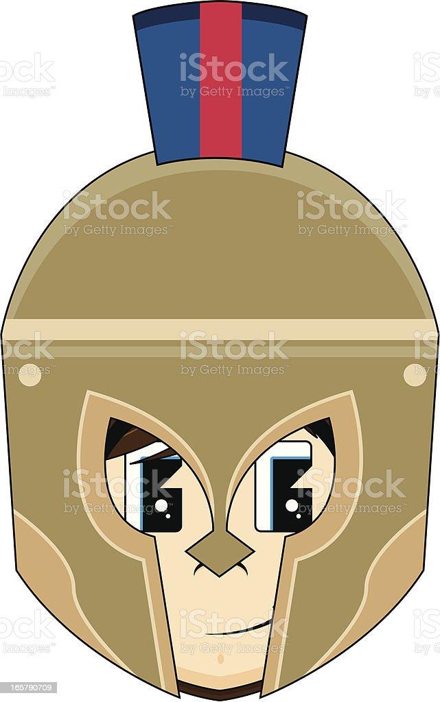 Greek Hoplite Soldiers Head royalty-free stock vector art