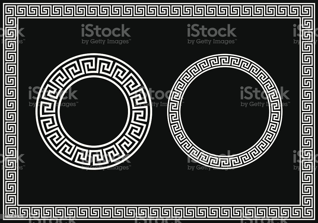 Greek Key Pattern vector art illustration