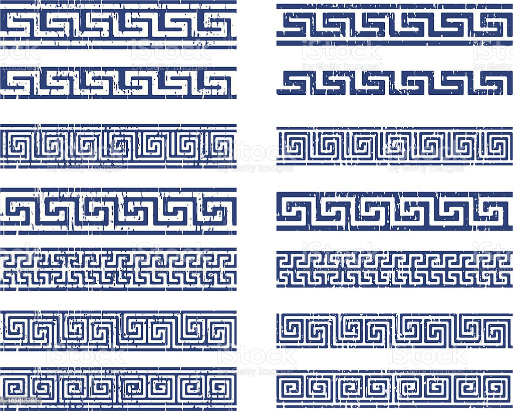 greek ornament vector art illustration