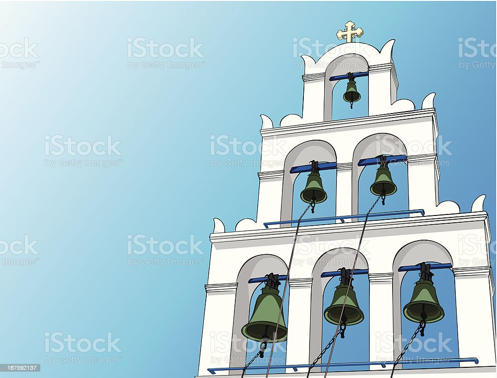 Greek Orthodox Church Bell tower royalty-free stock vector art