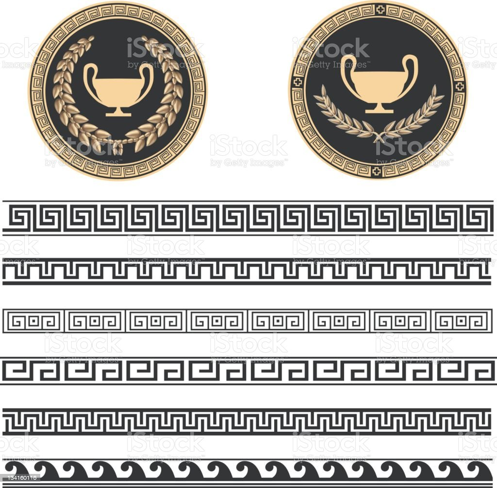 Greek Pattern vector art illustration
