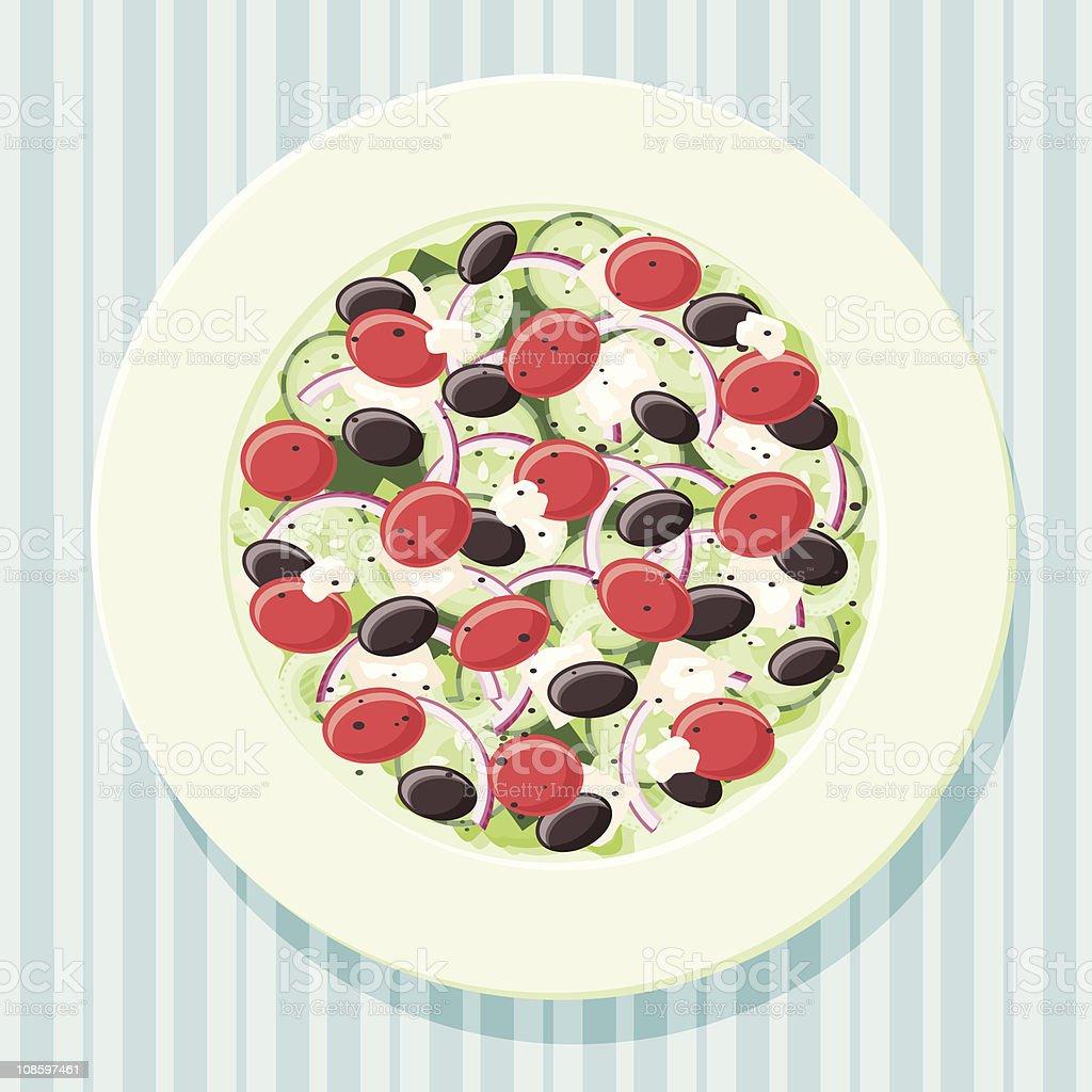 Greek Salad vector art illustration