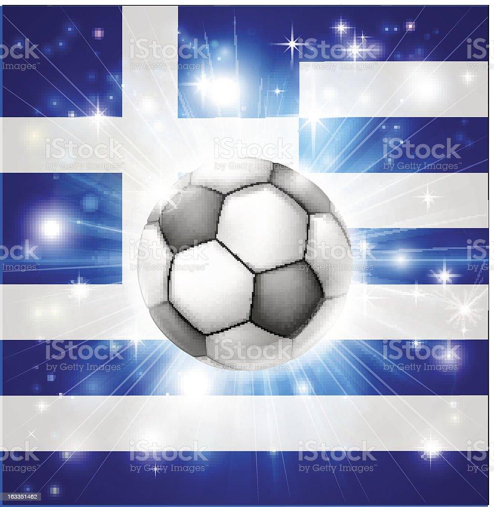 Greek soccer flag royalty-free stock vector art