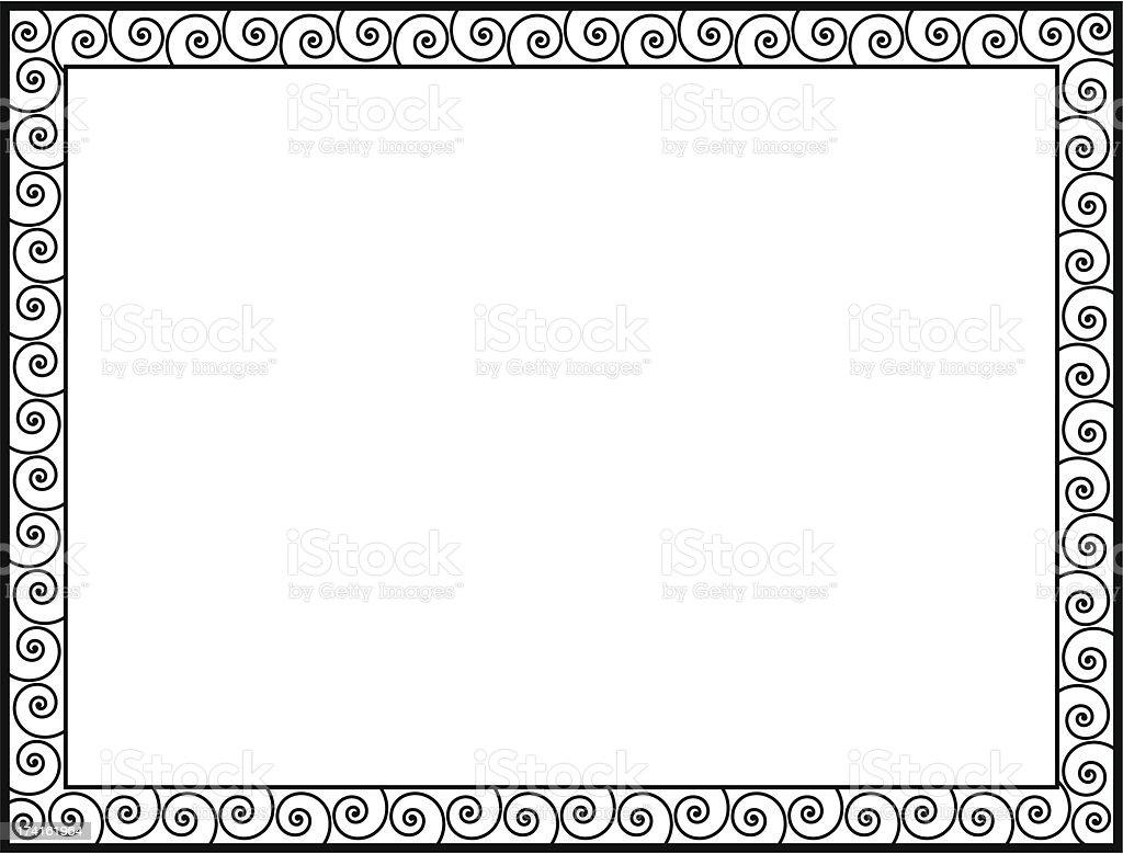 Greek style black ornamental decorative frame royalty-free stock vector art