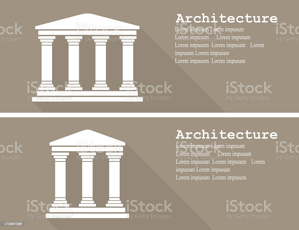 Greek temple icon vector illustration flat vector art illustration
