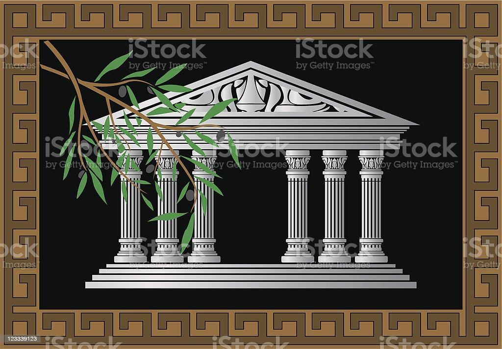 greek temple royalty-free stock vector art