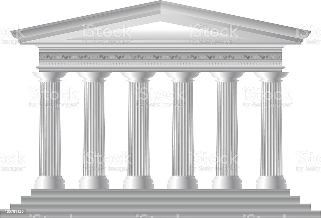 Greek Temple royalty-free stock vector art