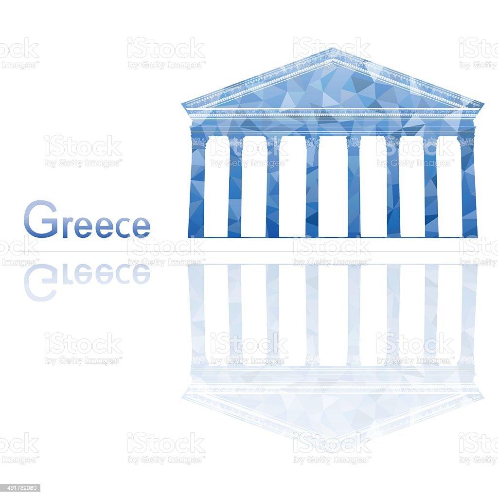 Greek temple, vector illustration vector art illustration