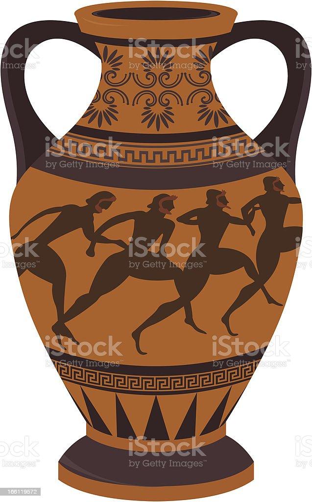 Greek vase vector art illustration