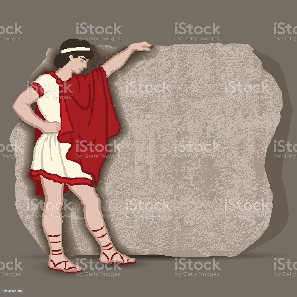 Greekboy vector art illustration
