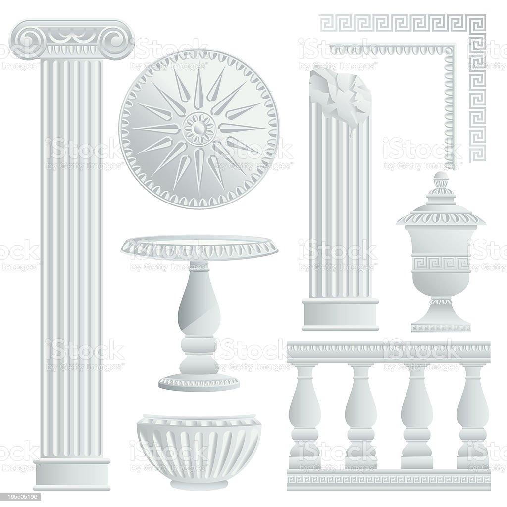 Greek/Roman Architecture Elements royalty-free stock vector art