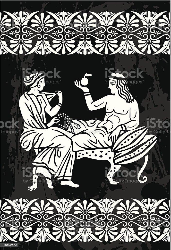 Greeks royalty-free stock vector art