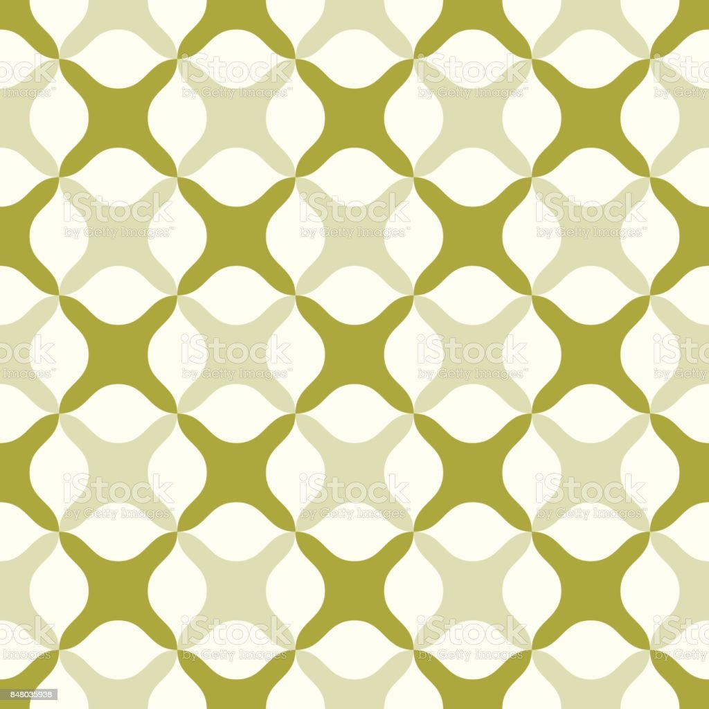 Green Abstract Cross Pattern on Pastel Color vector art illustration