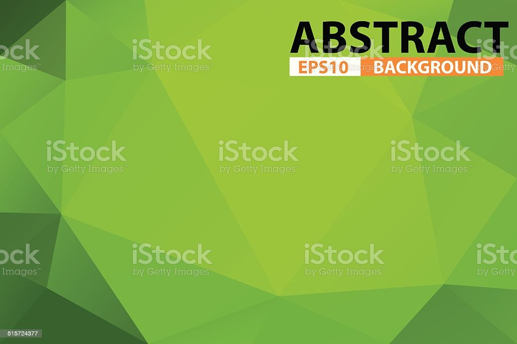 Green abstract triangular background royalty-free stock vector art