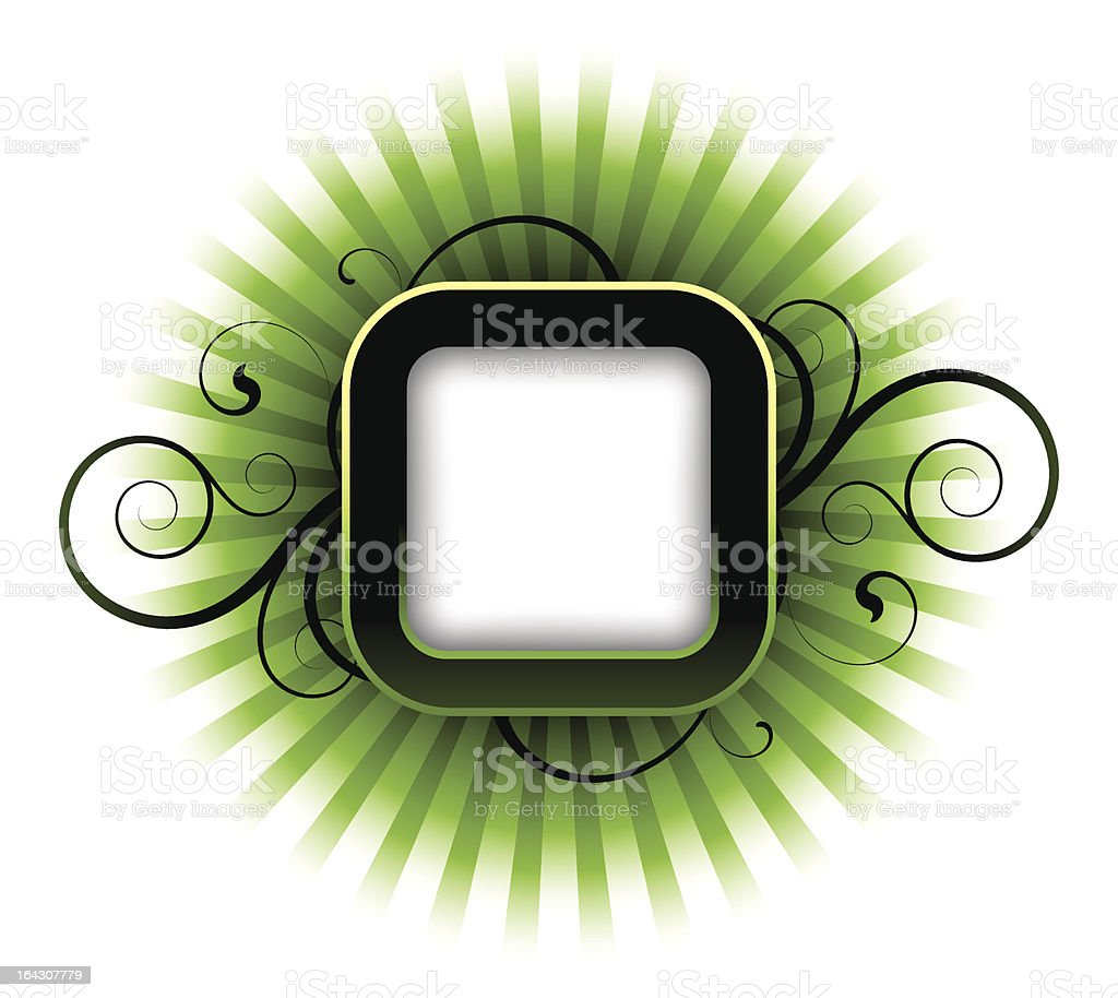 Green abstract royalty-free stock vector art