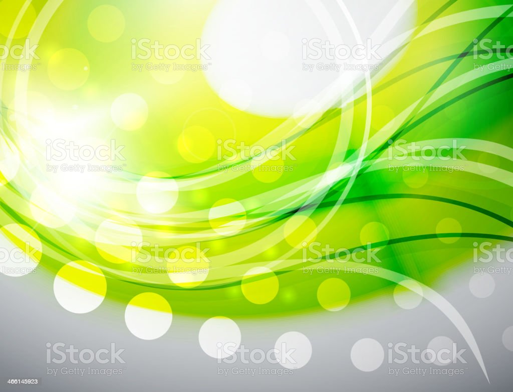 Green abstract wave background royalty-free stock vector art