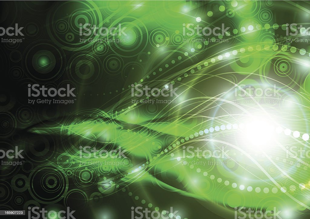 Green abstraction. royalty-free stock vector art
