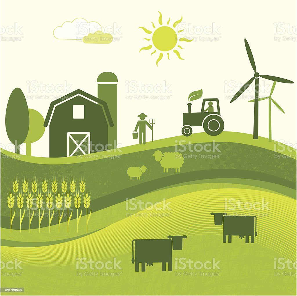 Green Agriculture (GreenWorld Series) vector art illustration