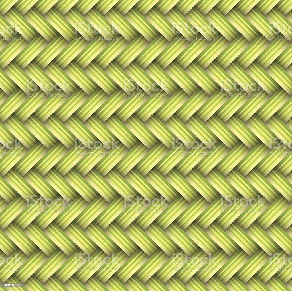 green ahd yellow wicker vector art illustration
