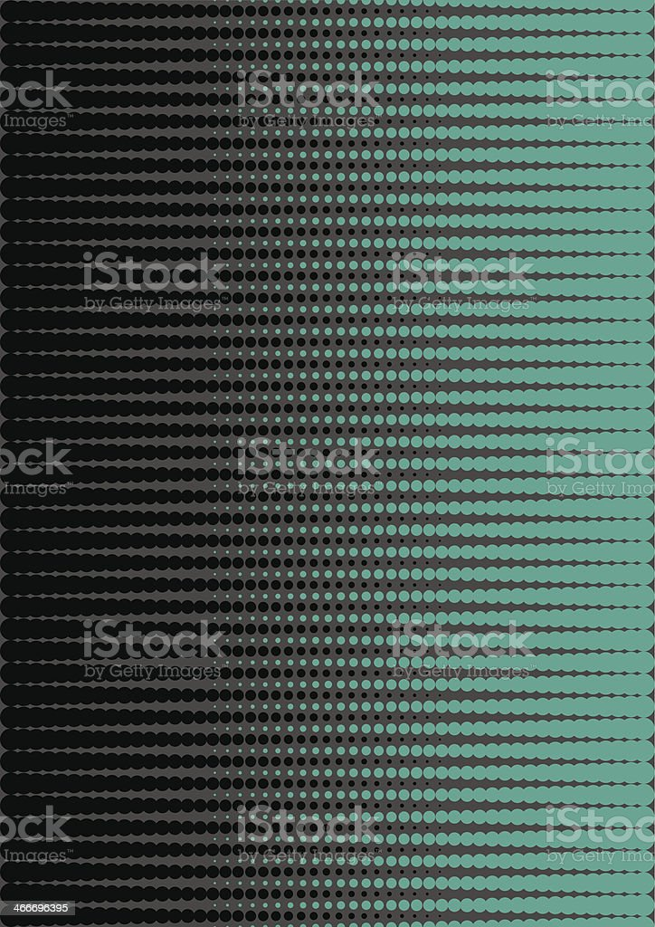 Green and black halftone vector art illustration