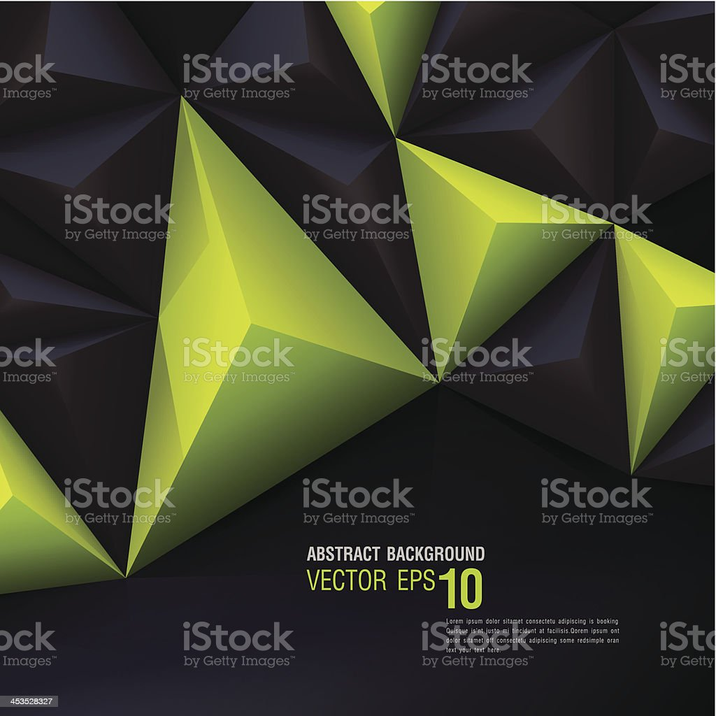 Green and black vector geometric background. royalty-free stock vector art