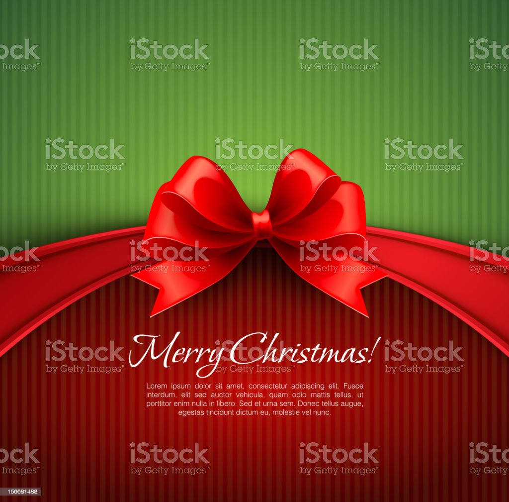 Green and red merry Christmas design royalty-free stock vector art